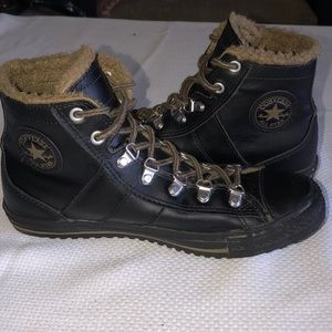 Leather - Sherpa Lined Converse Chuck Taylor's